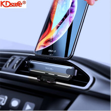 KDsafe Gravity Phone Holder In Car Air Vent Mount Cell Phone Foldable Mobile Phone Holder Stand for iPhone 11 XS XR Universal