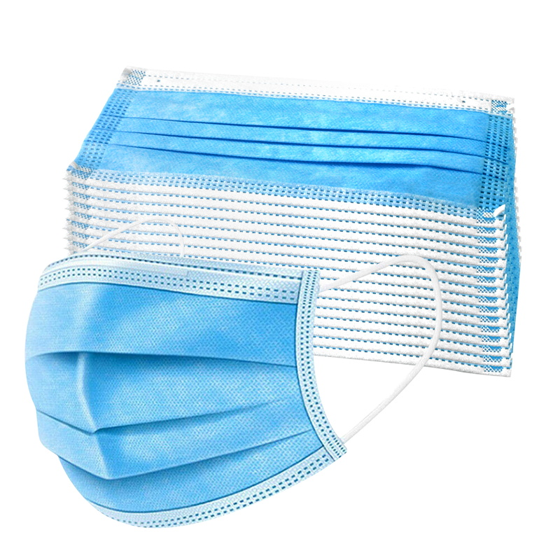 Non-medical Masks 3-layer Masks 200-piece Masks Non-woven Disposable Dust-proof Melt-blown Cloth Masks Ear Hanging Protective Ge