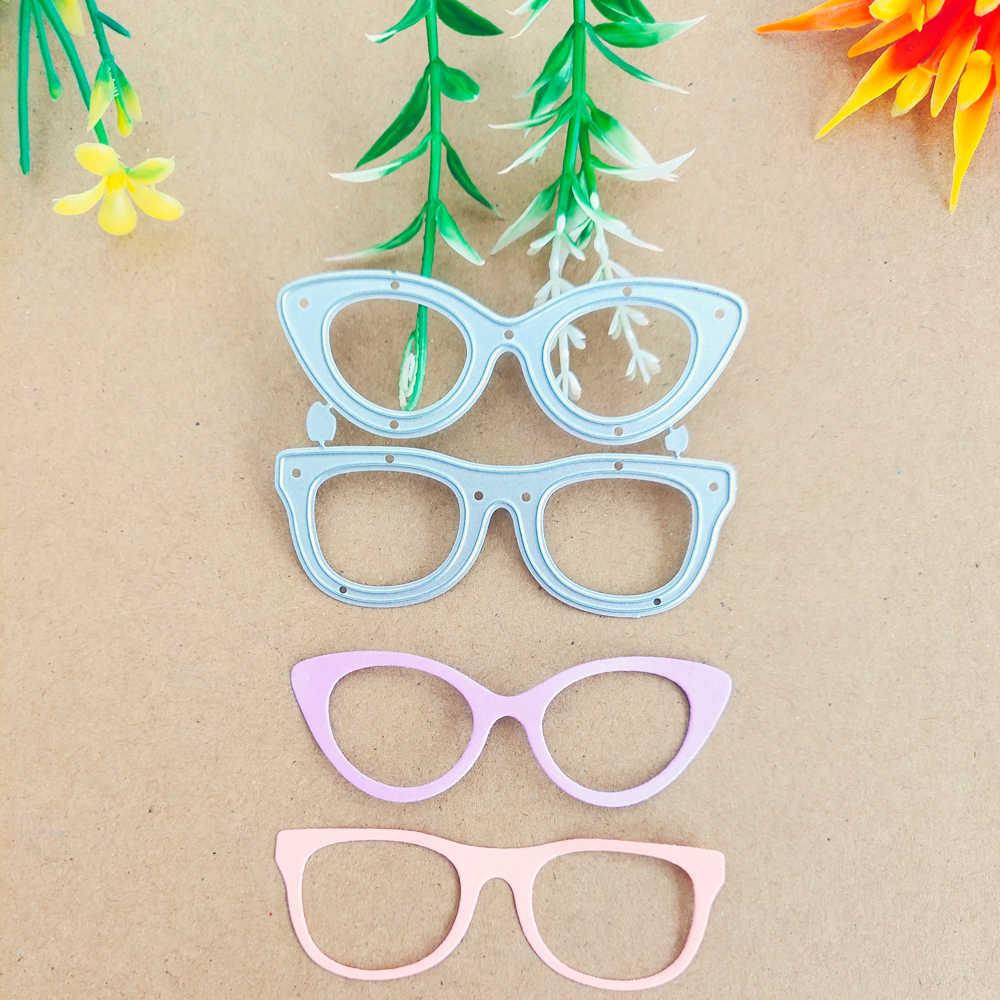 Acessórios óculos, óculos, armações, de metal decorativo corte morre, livros de corte de papel, facas, carimbando moldes