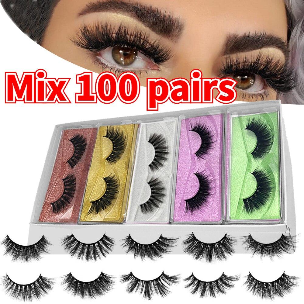 Mb Wholesale Mink Lashes 20 30 50 200 Pairs 3d False Eyelashes Box Thick Volume Makeup Faux Cils Fluffy Fake Eye Lashes Reusable Best Sale 6fb4db Cicig