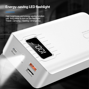 Image 3 - 30000mAh LED Display Power Bank For iPhone Samsung Tablet Powerbank Dual USB Charger QC Fast Charging External Battery Pack Bank