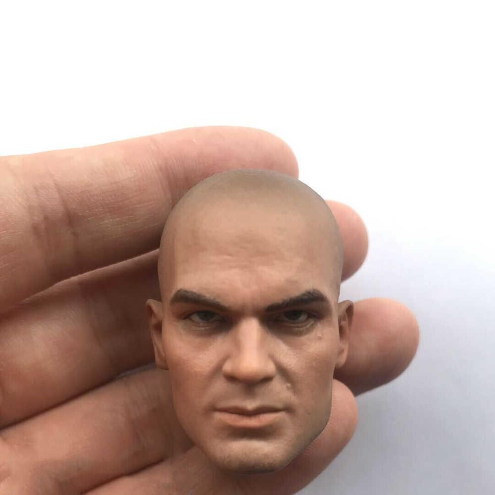 "1//6 White Head Sculpt Carved Model Hitman NO47 DIY Toy Fit 12/"" Male Figure Body"