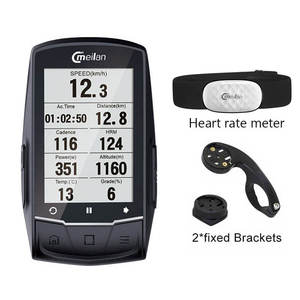 Meilan Navigation Computer Bicycle Bluetooth Speedometer Cadence/Hr-Monitor Bike Gps