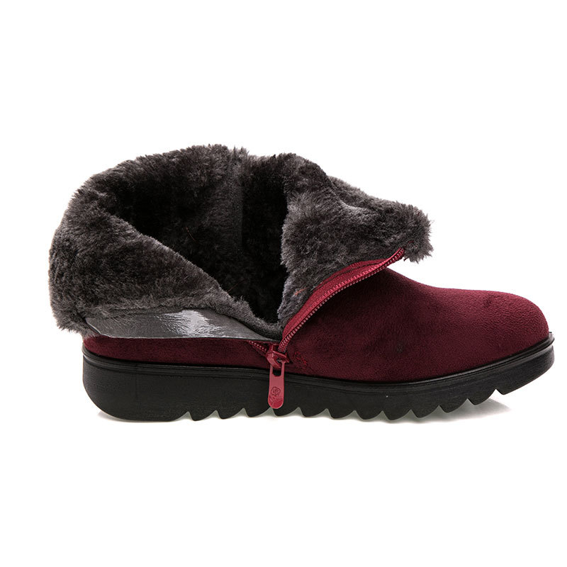Women Snow Boots Warm Plush Soft Bottom Winter Shoes Woman Ankle Boot Plus Size Platform Female Botas Mujer Drop Shipping SH1101