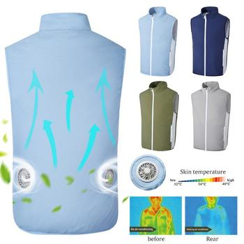 Men Fishing Clothing Vest Breathable Sweat-absorbent Cooling SuitSummer Cooling Air-conditioning Clothing Charging Vest Casual air conditioning vest cooling clothing aluminum alloy vortex tube worker welding cool clothes for high temperature environment