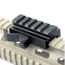 5-Slot Quick Detach Picatinny/Weaver Compact Lever Lock Adapter Riser Rail Accessories Scope