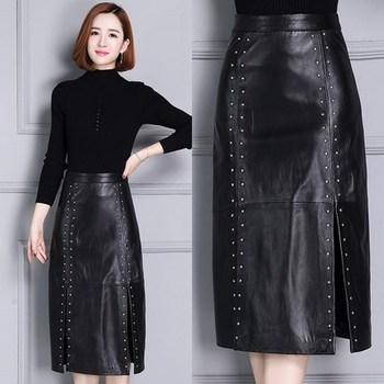 2020 Women New Real Genuine Sheep Leather Skirt K9 2020 new fashion real genuine sheep leather skirt g16
