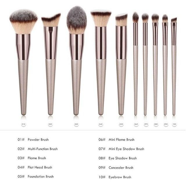 2019 New Luxury Makeup Brushes Wooden Foundation Cosmetic Eyebrow Eyeshadow Brush Sets Cosmetics Tools brochas maquillaje 1
