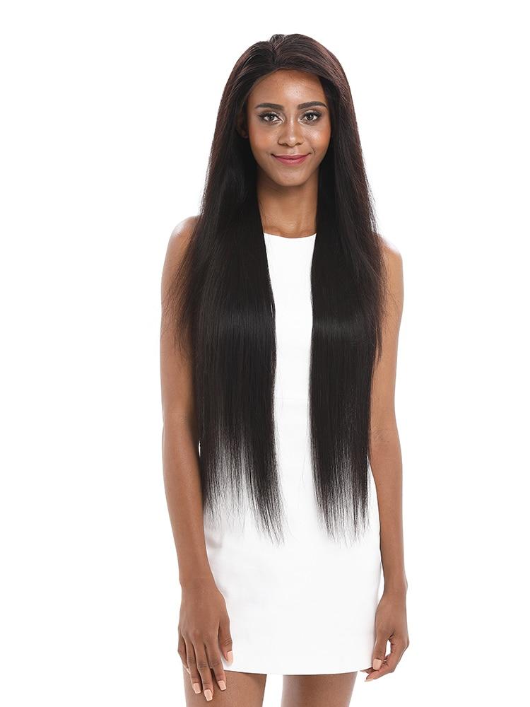 Lekker Straight-Bundles Closure Hair-Extension Brazilian-Hair