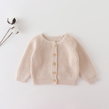 Clothing Sweater Baby-Girls Infant Spring Autumn Cotton Solid Coat Long-Sleeve Knitting