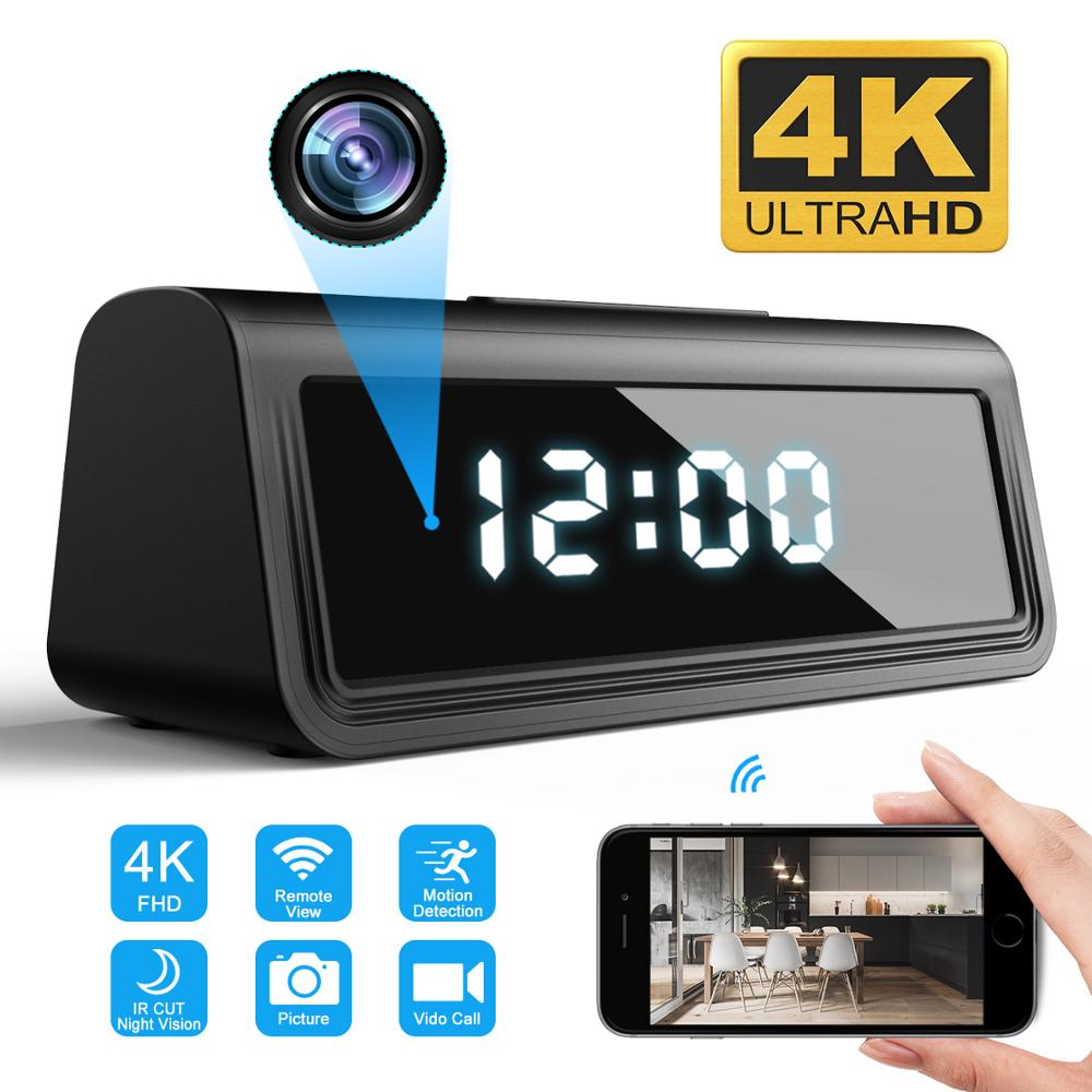 Mini WIFI Uhr Kamera 4K UHD WIFI Camcorder Micro Kamera Echt Nachtsicht Alarm Motion Remote CCTV Monitor Sicherheit ip Kamera