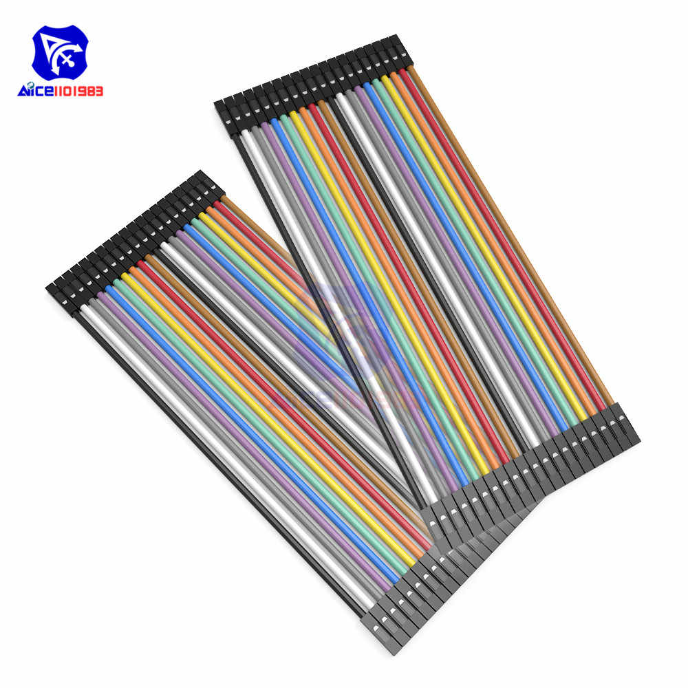 Diymore 40 Pin Dupont Linie 10cm/20cm/30cm/40cm Stecker auf Stecker/weiblichen zu Männlichen/Buchse auf Buchse Jumper Wire Dupont Kabel für Arduino