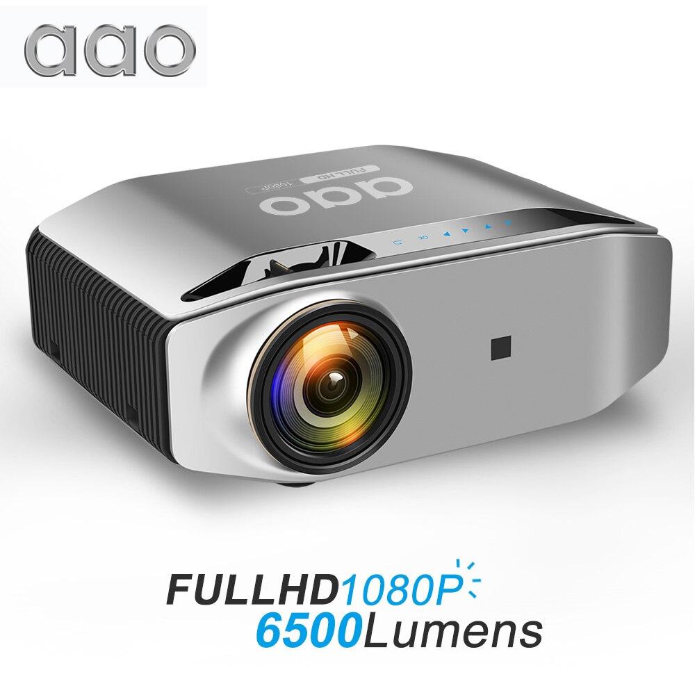 Aao nativo 1080p projetor hd completo yg620 led proyector 1920x1080 p vídeo 3d yg621 sem fio wifi multi-tela beamer teatro em casa