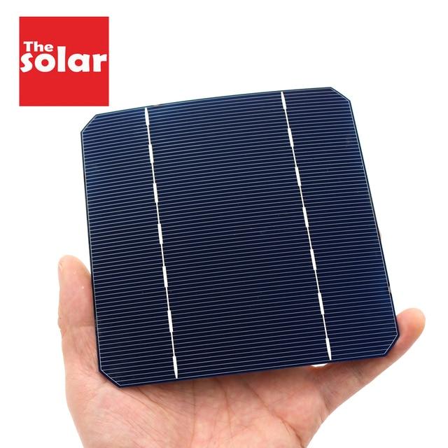 10 40 50 100PCS 125*125 תאים סולריים Monocrystalline הסיליקון פנל סולארי PV DIY פוטו Sunpower C60 2.79W 2.8W 0.5V