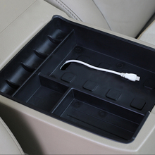Caixa de armazenamento para console de carro, estilo de carro, apoio para braço, caixa de armazenamento para toyota highlander 2009 2010 2011 2012 2013