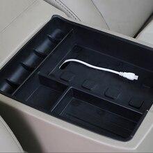 Car styling, podłokietnik samochdoowy centrum pudełko do przechowywania na deskę rozdzielczą pasuje do Toyota Highlander 2009 2010 2011 2012 2013 2014 2015