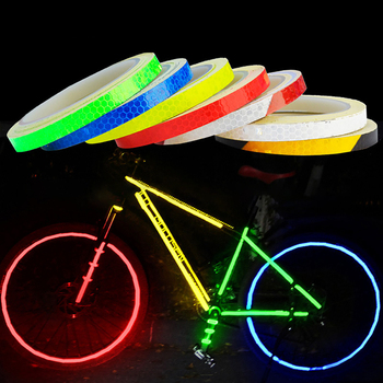 Bicycle Reflective Stickers Adhesive Bike Reflective Tape Fluorescent Strip Decals Stickers MTB Bike Cycling Bicycle Accessories image