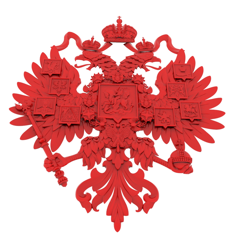 15 Pieces Russian Style Coat Of Arms 3D Model STL Format CNC Router Carving ArtCAM Aspire Type3 Engraving Carving Detailed Files