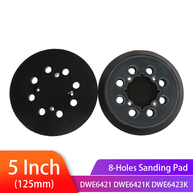 5 Inch 125mm 8-Hole Backup Sanding Pad Hook And Loop Assemblies