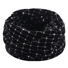 Snood Scarf Shawl Cowl Plaid Women Neck-Warmer Double-Layer 2 Ski -