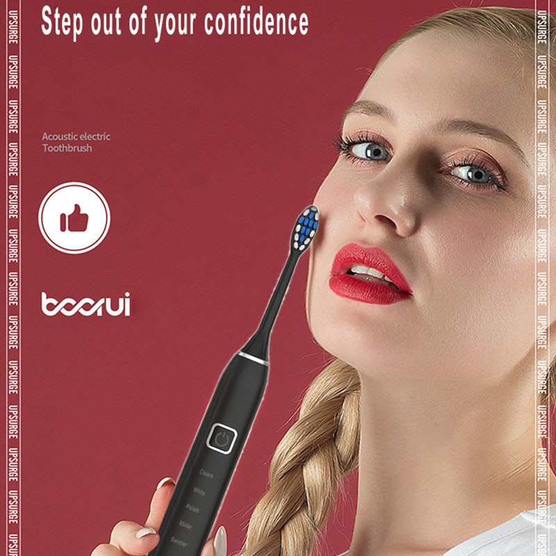 Electric Toothbrush Tooth Brush USB Induction Rechargeable Adult Waterproof Ultrasonic Automatic 5 Mode