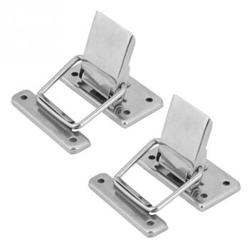 2Pcs Stainless Steel Latch Hasp Lock for Cabinet Case Spring Loaded Latch Catch Toggle hasp wooden box lock furniture hardware dks 5 zinc alloy toggle latch lock dk604 hasp cabinet hasp toggle latch lock bright chrome black with without key 1 pc