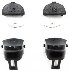 Image 2 - PS4 Pro JDM 040 Controller Reparatur Kit R1L1R2L2 Trigger Tasten 3D analog Joysticks Thumb Sticks Kappe Leitfähigen Gummi Film Schraube