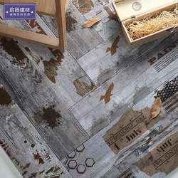 Характеристики древесины зерна старый кирпич Древесины Зерновой кирпич балкон гостиной для пола в ванной имитация дерева в американском