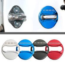 Protetor de aço inoxidável para porta sorento, tampa de aço inoxidável para kia sportage ceed kia sorento 2017 2018