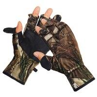 Camouflage Jacht Handschoenen Flip Drie Vingers Handschoenen waterbestendig Winddicht Outdoor Fotografie Vissen Handschoenen-in Jacht Handschoenen van sport & Entertainment op