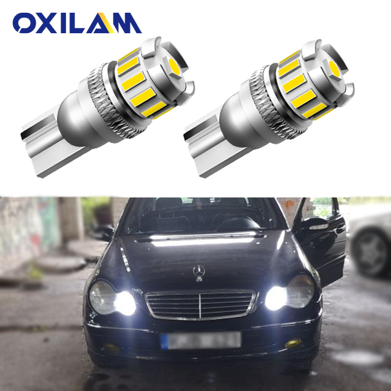 2x Canbus T10 W5W 168 194 LED Clearance Side Marker Lights For Mercedes Benz W211 W221 W220 <font><b>W163</b></font> W164 W203 C E SLK GLK CLS M GL image