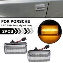 2X Klare linse LED Seite Blinker Marker Licht Pfeil Blinker FÜR Porsche 911 Carrera 924/924S 944 959 968 Audi VW Aston Martin