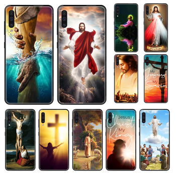 Jesus Christ Phone case For Samsung Galaxy A 3 5 8 9 10 20 30 40 50 70 E S Plus 2016 2017 2018 2019 black luxury cell cover image