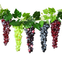 Real Touch Artificial Fruit Grapes Plastic Fake Leaves Christmas Home Garden Wedding Party Decoration Food Photography Props