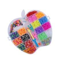 2020 novo silicone arco-íris mão tecelão diy conjunto crafting kit para crianças recarga de borracha kit colorido tear banda