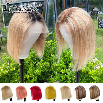 Highlight Short Ombre BoB Lace Front Wig Blonde Balayage Hair Extensions Cheap Closure Wig Brazilian Human Hair For Black Women highlight short ombre bob lace front wig blonde balayage hair extensions cheap closure wig brazilian human hair for black women