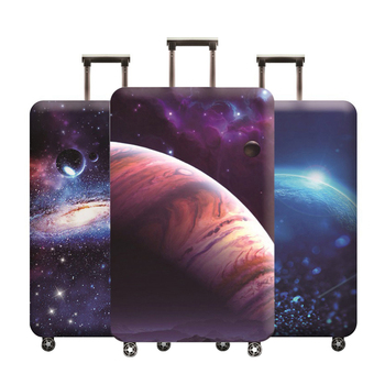Planet Pattern Design Luggage Protective Cover Thicken Elastic Suitable18-32 Inch Protector Dust Bag Case Trunk Accessory Items fishtail design bag accessory