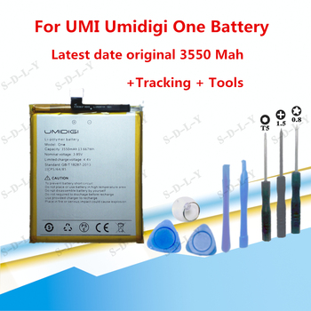 3550mAh Hight capacity For UMI Umidigi One Battery Cell Phone Replacement Batteries Rechargeable +Tracking + Tools