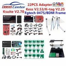 Полный 22 шт. рамка фонового режима отладки зонды адаптер Светодиодный рамка фонового режима отладки ECU пандус адаптеры для k-tag KESS 2,70 BDM100 Fgtech ...