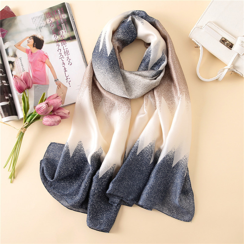 New Style Four Seasons China Quality Nice Silk Party Scarves Women Office Warm Large Shawls Lady Party Popular Print Beach Hijab
