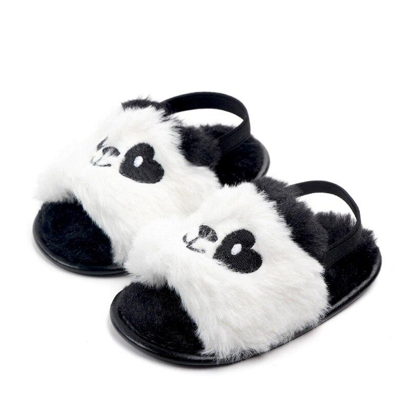Newborn Girls Boys Baby Shoes Kids Plush Slippers Anti-slip First Walkers Summer Children Indoor Outdoor Slippers