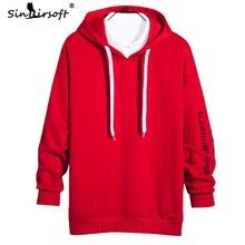 New Design Hip Hop Style Hooded Sweatshirt Mens Letter Printing Hoodies Coat Male High Street Black Tops Clothing Autumn Fashion
