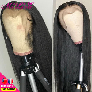 13x6 Straight Lace Front Human Hair Wigs 30 Inch 4x4 Closure Wig Mi Lisa Remy Brazilian Straight Transparent HD Lace Frontal Wig(China)