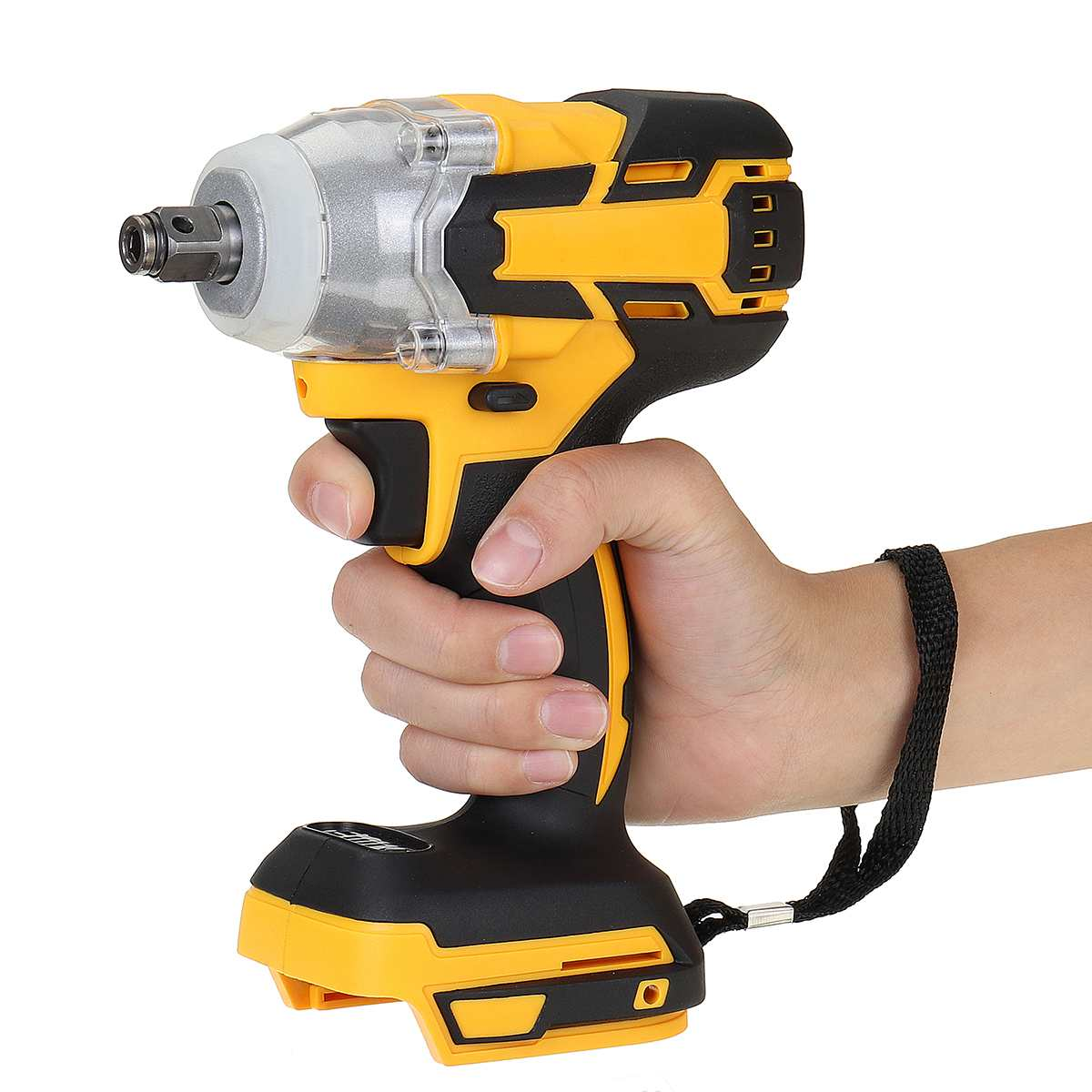 18V 520N.m Electric Brushless Impact Wrench Rechargeable 1/2'' Socket Wrench Power Tool Cordless Without Battery Accessories