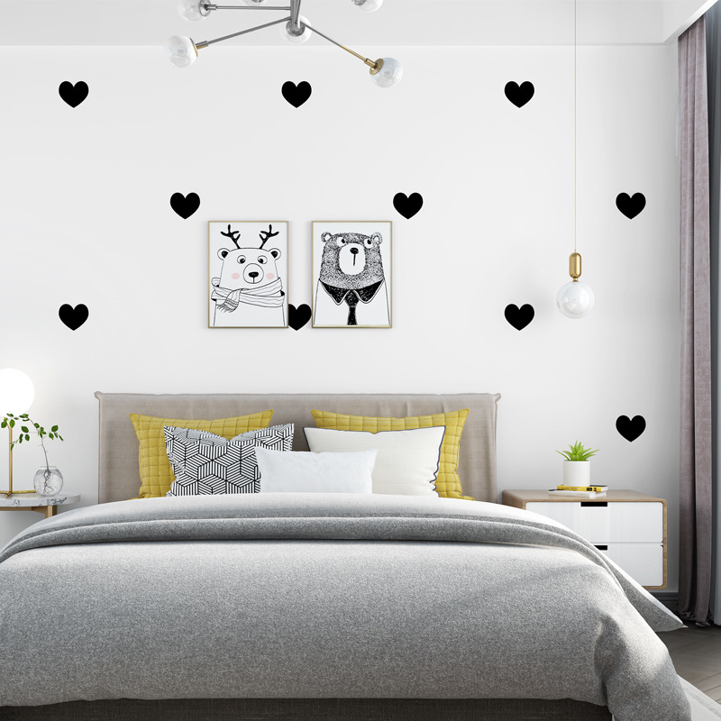 Nordic Wallpaper INS Modern Minimalist Geometry Love Shaped Living Room Bedroom TV Backdrop Wall Online Celebrity Wallpaper