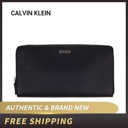 Authentische Original & Brand neue Luxus Neuheiten Calvin klein Leder Zip Um Brieftasche 79441