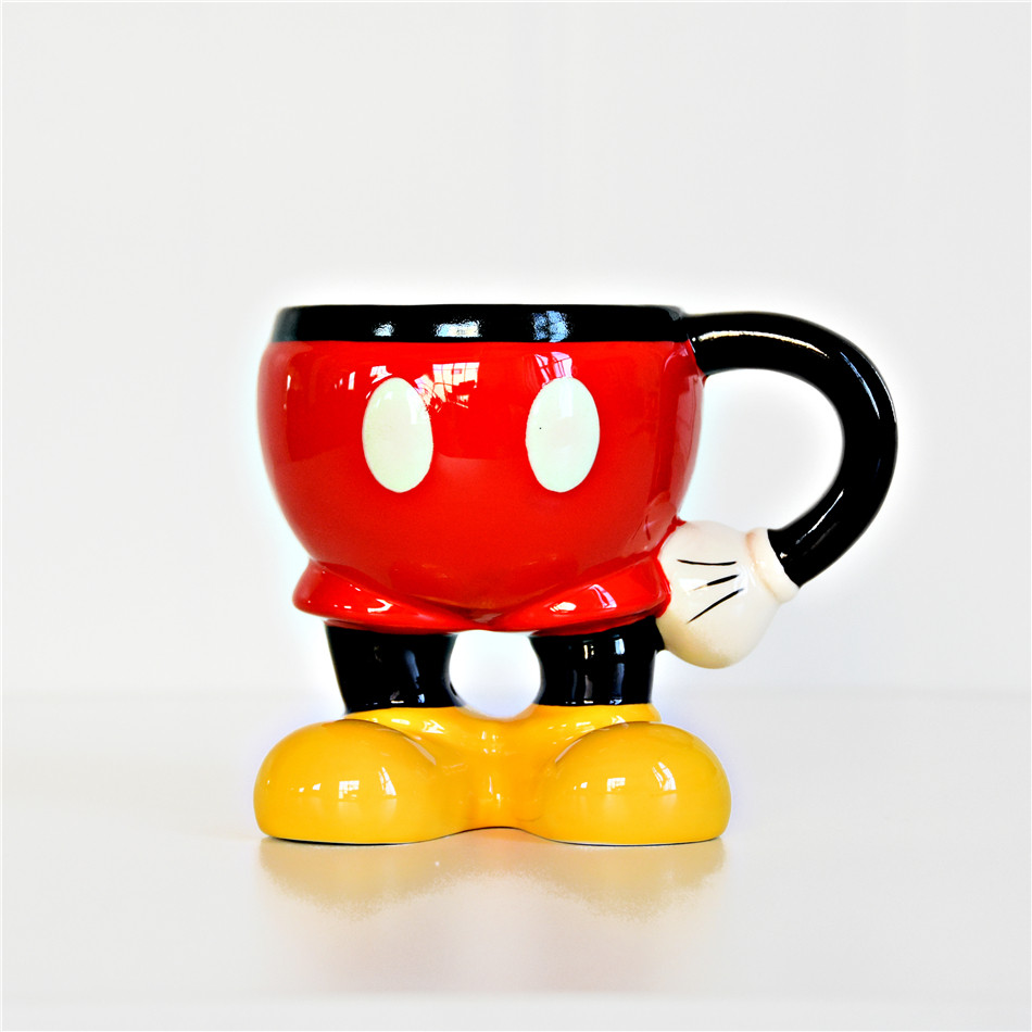 350ml 3D Disney Mickey Minnie Cartoon Ceramic Water Cup Home Office Collection Mug Love Couple Festival Women Girl Boy Gifts