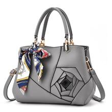 Pu Leather Bags Handbags Women Famous Brands Scarves Crossbody Bag For Womens 2019 Luxury Black Designer