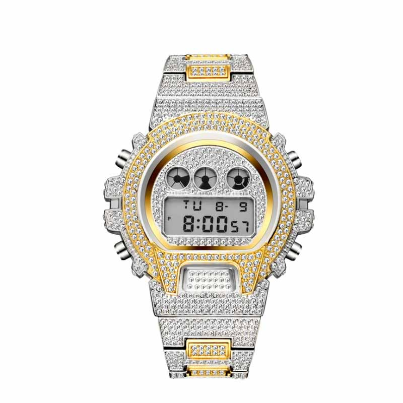 Ultimate SaleWatches G-Style Shock Iced-Out Luxury Brand Digital Top Multi-Function LED Hip-Hop DNSCHIC