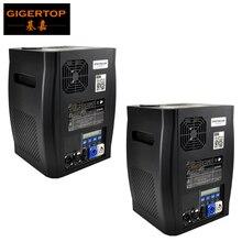 Gigertop 2 ユニット Sparkular 2 5M DMX 512 噴水ステージコールド放電加工機花火 Lcd ディスプレイ電源で /出力ソケット